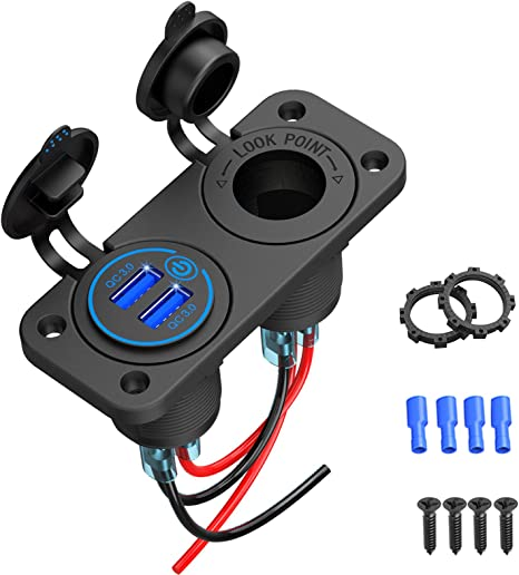 Quick Charge 3 0 Usb Steckdose Auto Mit Schalter Elektronik