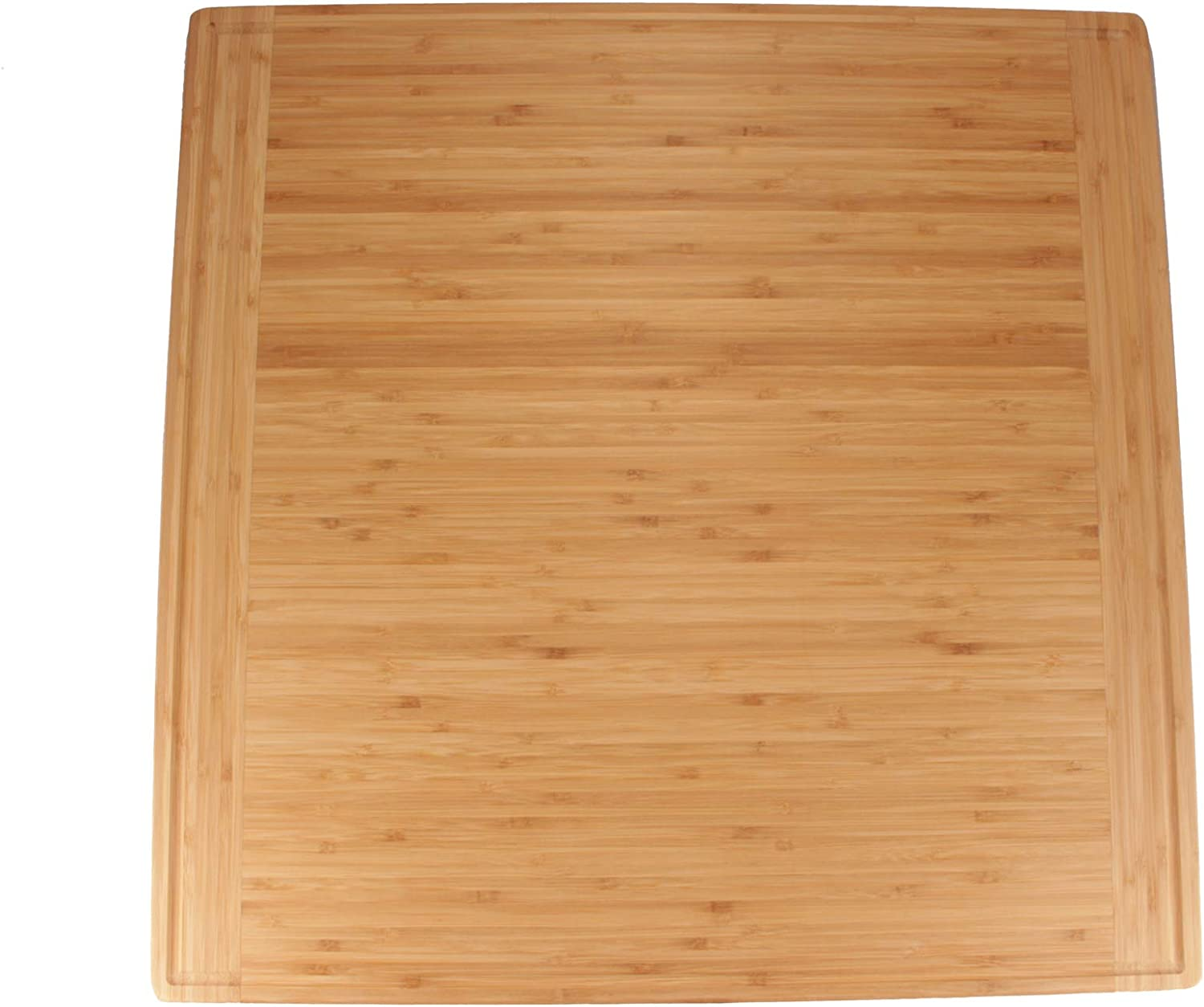 "BambooMN Universal Premium Pull Out Cutting Boards - Under Counter Replacement - Designed To Fit Standard Slots Heavy Duty Kitchen Board with Juice Groove - 22"" x 22"" x 0.75"" - 1 Piece"