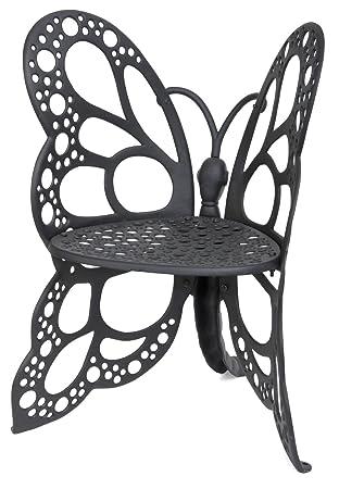 Flower House FHBC205 Butterfly Chair, Black