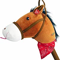 WALIKI TOYS Stick Horse Plush With Sound For Kids And Toddlers