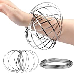 The Safety Zone Flow Ring Kinetic 3D Spring Toy Sculpture Ring Game Toy For Kids Boys