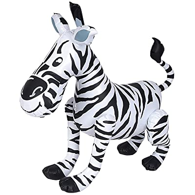 Rhode Island Novelty Inflatable Zebra: Toys & Games