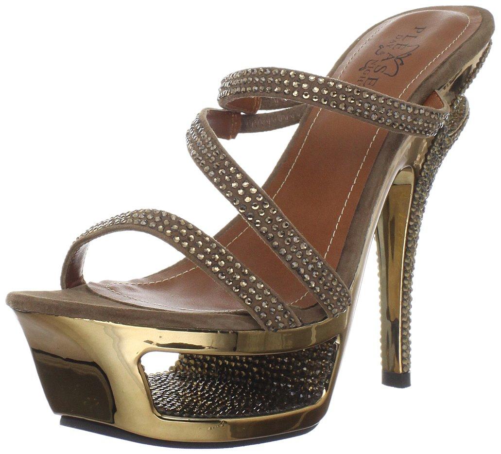 Pleaser Women's Deluxe-603/BZS Sandal B005NCJU74 7 B(M) US|Bronze Suede