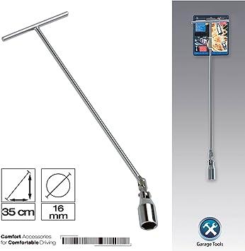 SUMEX 2707083 - Llave Bujía 35 cm, Articulada Diámetro 16 mm