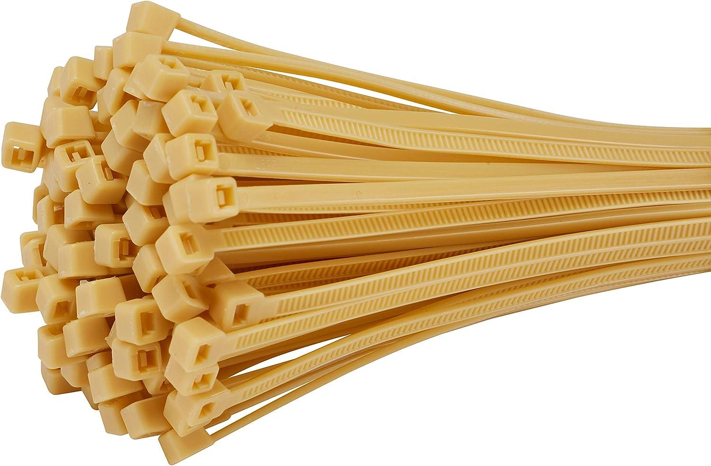 Fix Easy Kabelbinder 2 5x200mm Bambus Beige 50 Stück Set Für Schilfrohrmatte Balkonsichtschutz Terrasse Baumarkt