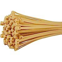 Fix&Easy Kabelbinders 2,5x100mm bamboe beige 100 stuks set voor reed screening fence mat scherm zichtweringmat…