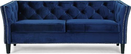 Christopher Knight Home Sunny Velvet 3 Seater Sofa