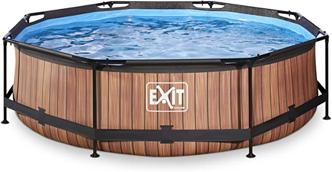 EXIT Wood Pool ø300x76cm with Filter Pump - Brown - Piscina ...