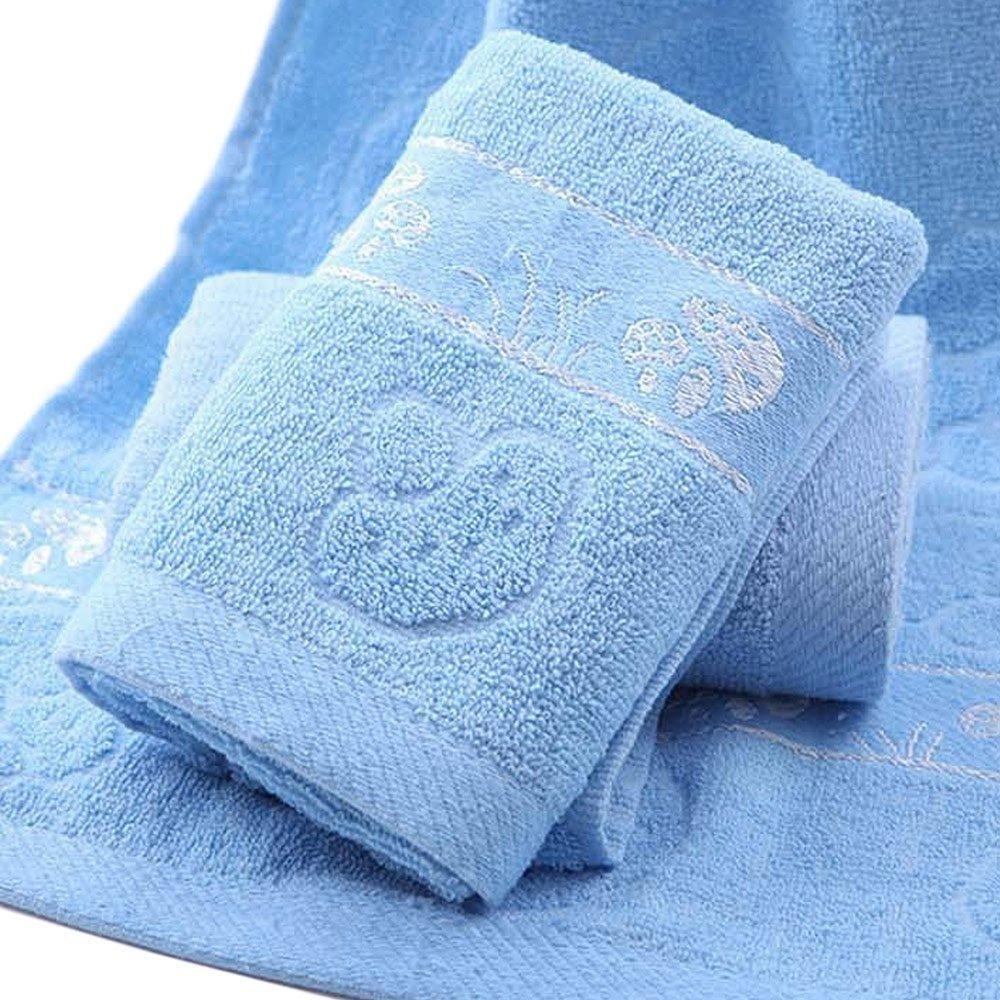KingNew Toalla de bañ o de algodó n suave, 100 % lujosa, toallas de bañ o de mano, 33 cm x 73 cm (azul) toallas de baño de mano