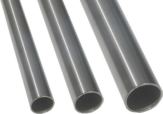 Edelstahlrohr V2A Edelstahl Gel/änder Rohr Rundrohr geschliffen Korn 240 verschiedene Durchmesser und L/ängen andere L/ängen bis 6 m auf Anfrage m/öglich D=21,3x2 mm/², L/änge 800 mm - 80 cm