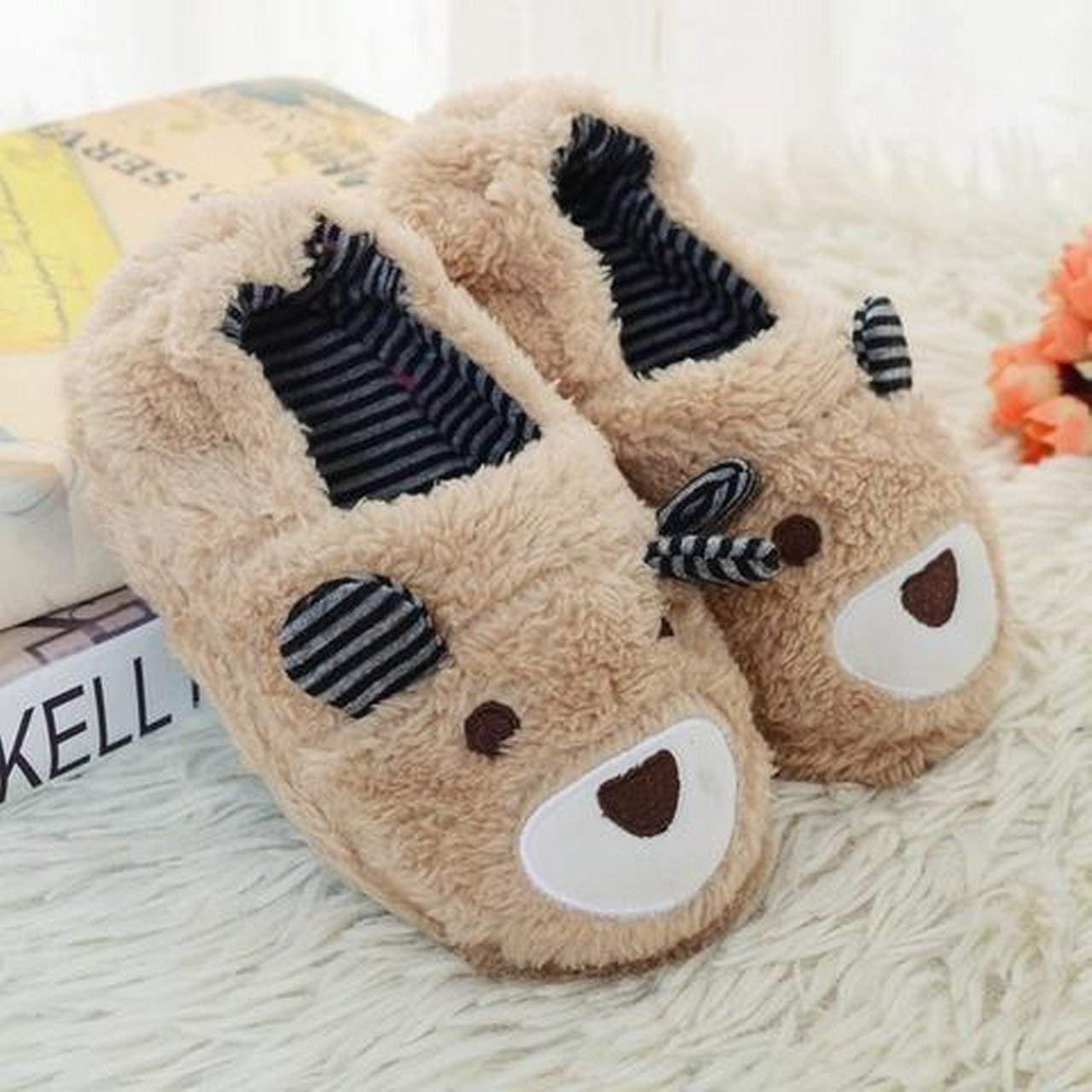 JDawsons New Cute Cotton Slippers Kids Winter Home House Shoes