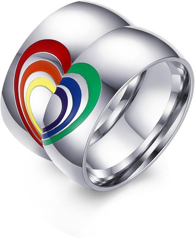 Amazon Com Gemmart Slyq Jewelry Lgbt Wedding Ring Men Stainless