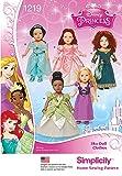 Simplicity 1219 Disney Princess 18'' Doll Clothes