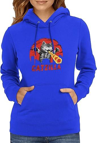 NEXXUS Catzilla - damski sweter z kapturem: Odzież