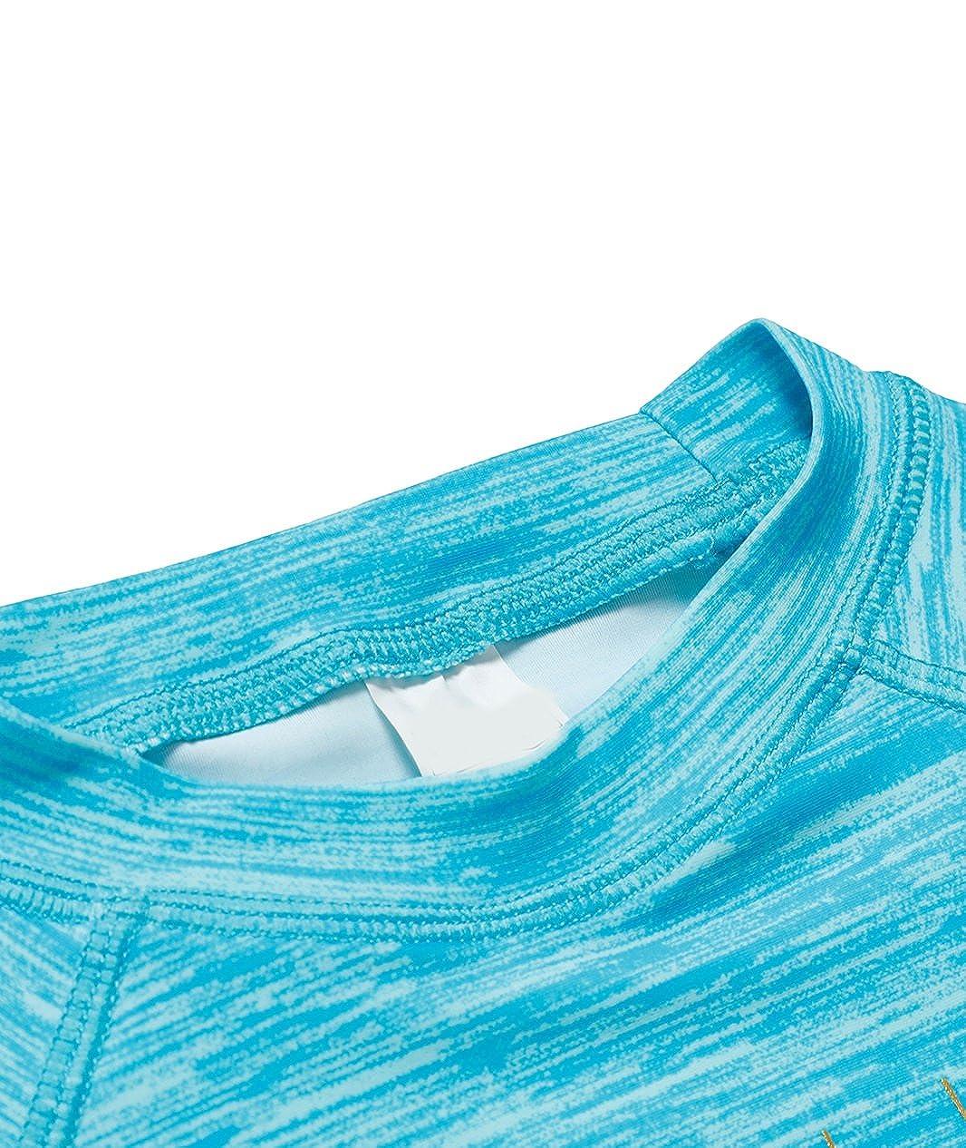 BELLOO Girls Long-Sleeve Rash Guard Swim Shirt Swimsuit Swimwear for 6-16 Years