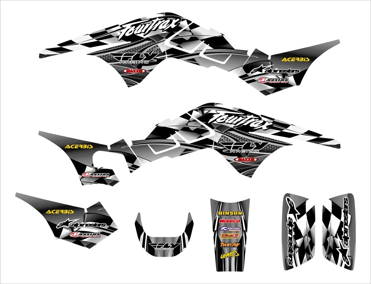 TRX 250 R Graphics Decal kit 1986-1989 by Allmotorgraphics NO2500 Metal