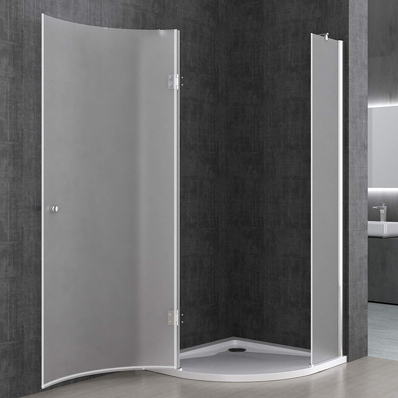 Sogood Cabina de ducha de cuarto de círculo Rav06S 80x80x190cm ...
