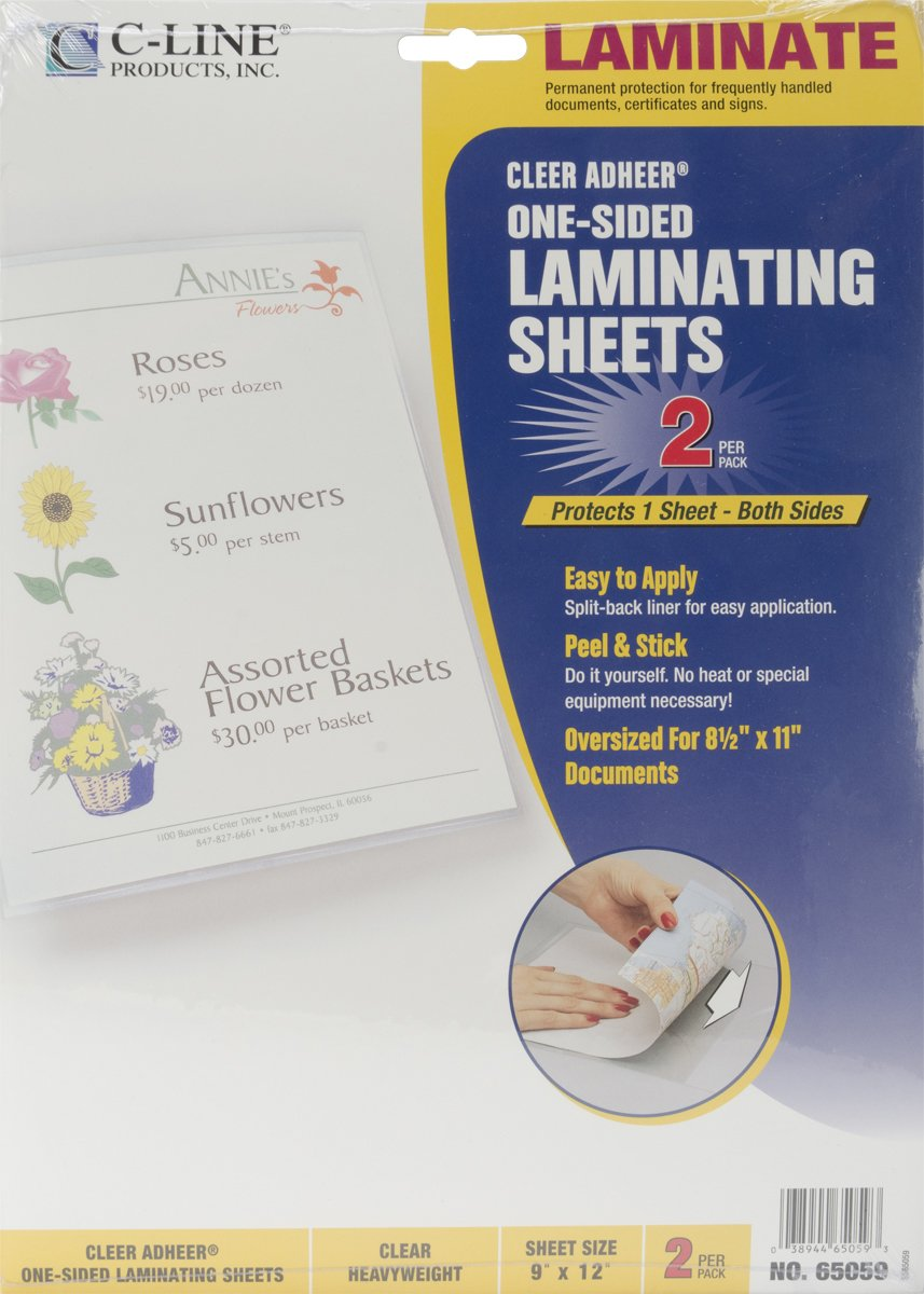 Amazon c line heavyweight cleer adheer laminating film sheets amazon c line heavyweight cleer adheer laminating film sheets clear 9 x 12 inches 2 per pack 65059 office products solutioingenieria Image collections