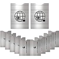 12 Protectores de Bloqueo para Prevenir RFID -ANTI-FRAUDE Fundas para Tarjeta de Crédito, Débito y Tarjeta de…