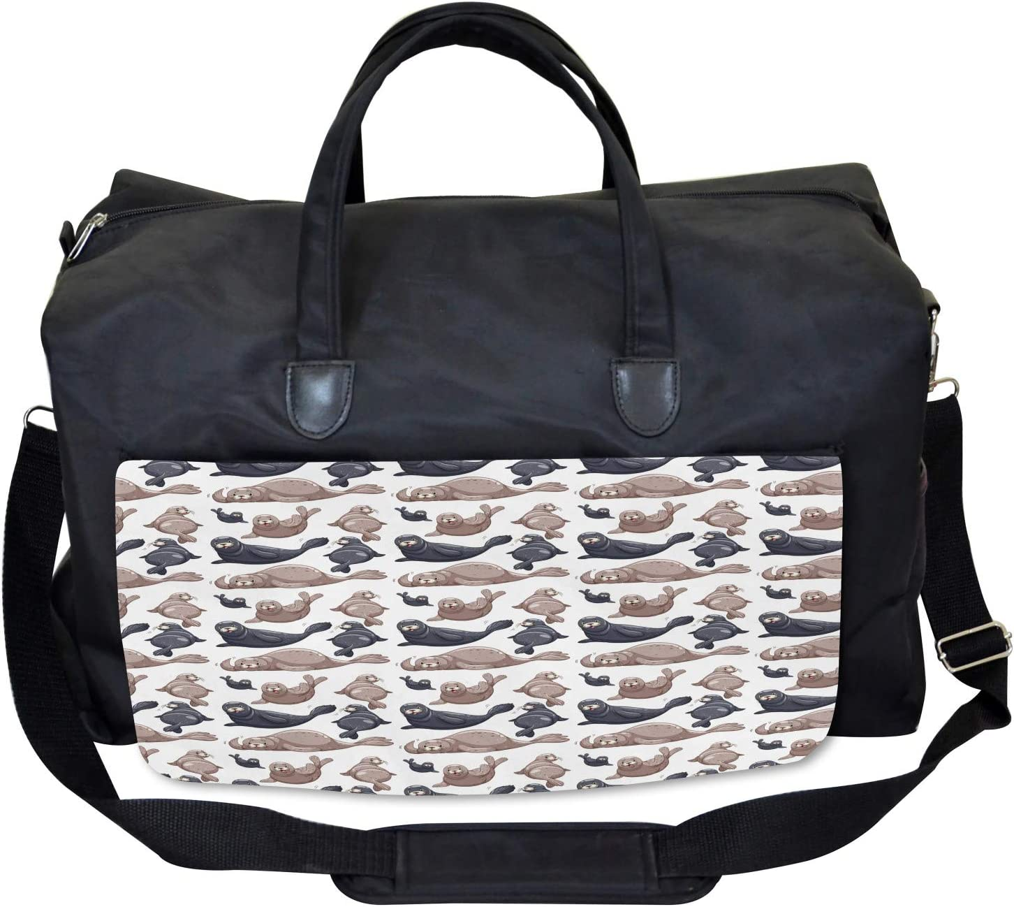 Wild Tropical Sea Lion Ambesonne Exotic Gym Bag Large Weekender Carry-on