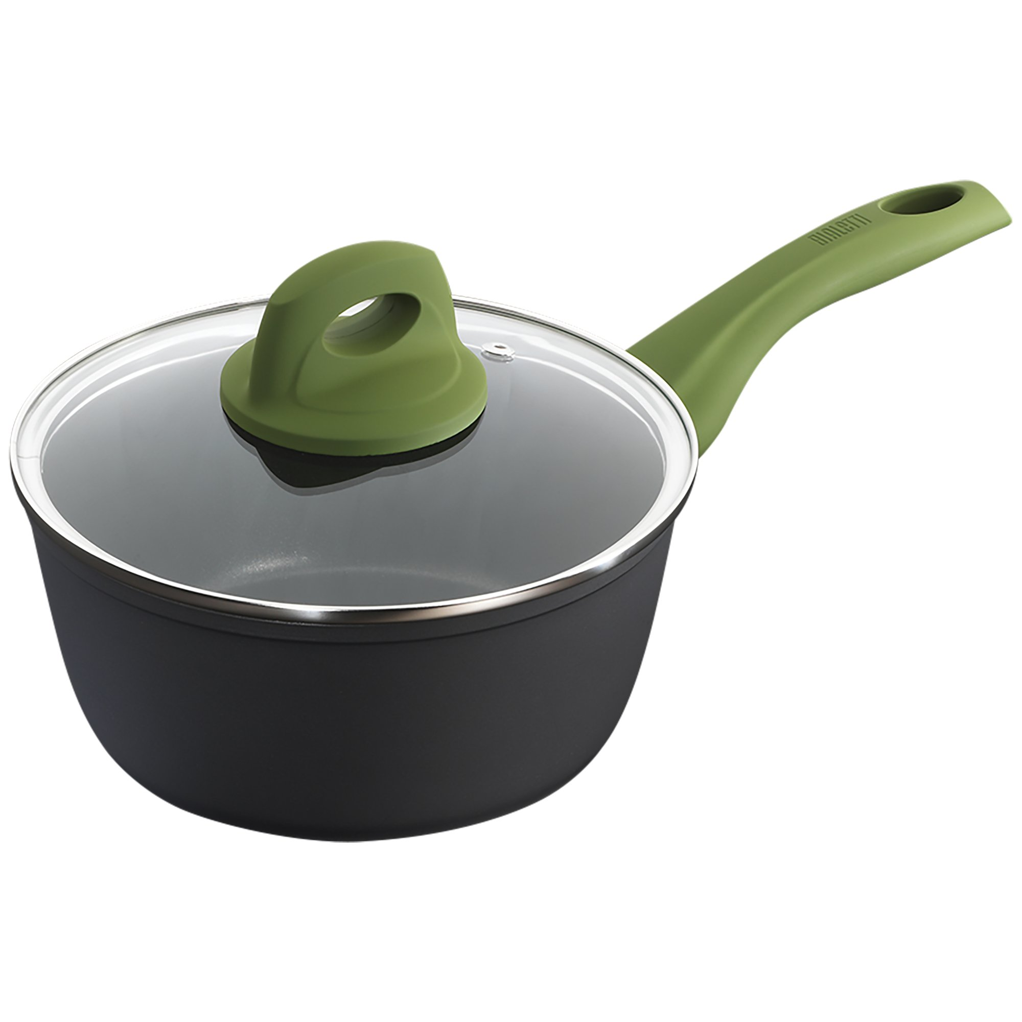 Bialetti Simply Italian Nonstick Covered Sauce Pan, 1.9 quart, Multicolored
