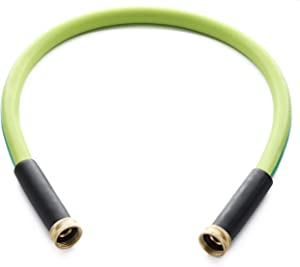Double Female Connectors Garden Hose 5/8 Inch x3 FT. Working Under -4°F, Light Weight and Coils Easily, Abrasion Resistant, Extreme All Weather Flexibility (3FT-Female to Female)