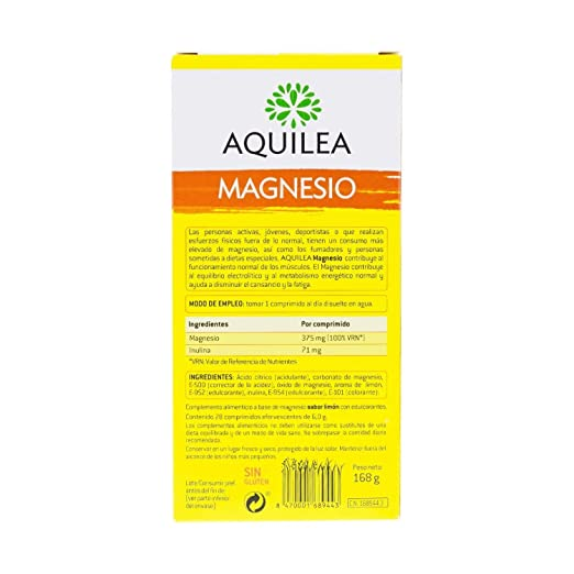 Amazon.com: Aquilea Magnesium 2 x 14 Tablets (28 Tablets Total) - Lemon Flavoured Effervescent Tablets - Prevents Tiredness & Fatigue - Replenish Your ...