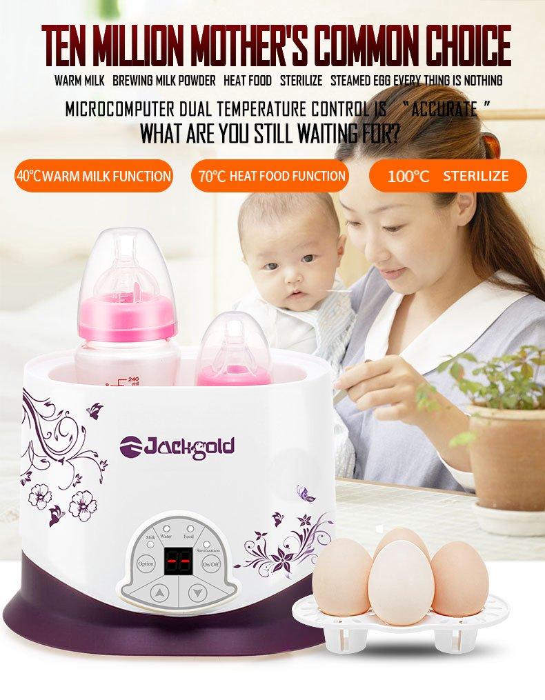 Jackgold Portable Baby Bottle Warmer Intelligent constant temperature Milk Heating Heater