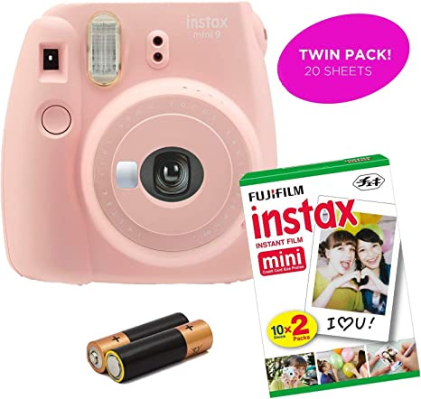 Fujifilm Instax Mini 9 Cámara instantánea + Instax Film-Film Pack Options-Renewed: Amazon.es: Electrónica