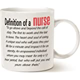 Inspirational Quote Nurse Coffee Mug Father's Day and Mother's Day Gifts, Best Nurse Day Gifts for Nurse Porcelain Cup White, 14 Oz by LaTazas