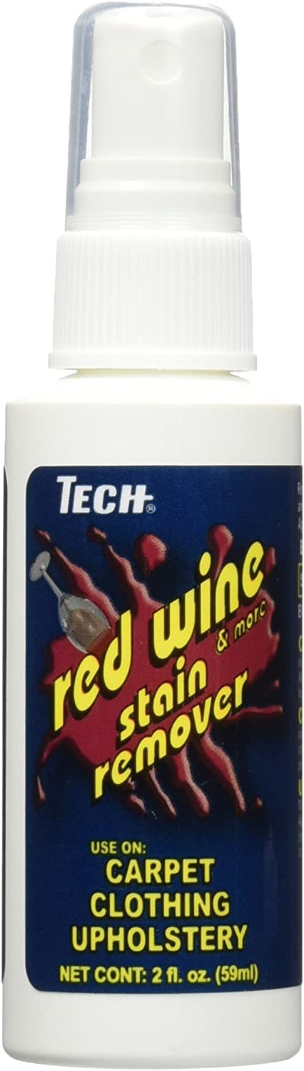 TECH Red Wine Stain Remover, 2 oz Spray Bottle, For Carpet, Clothes, Upholstery, and Other Fabrics: Home & Kitchen