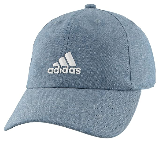 bd9c3a71 adidas Women's Saturday Plus Relaxed Adjustable Cap, Blue Chambray/White,  One Size