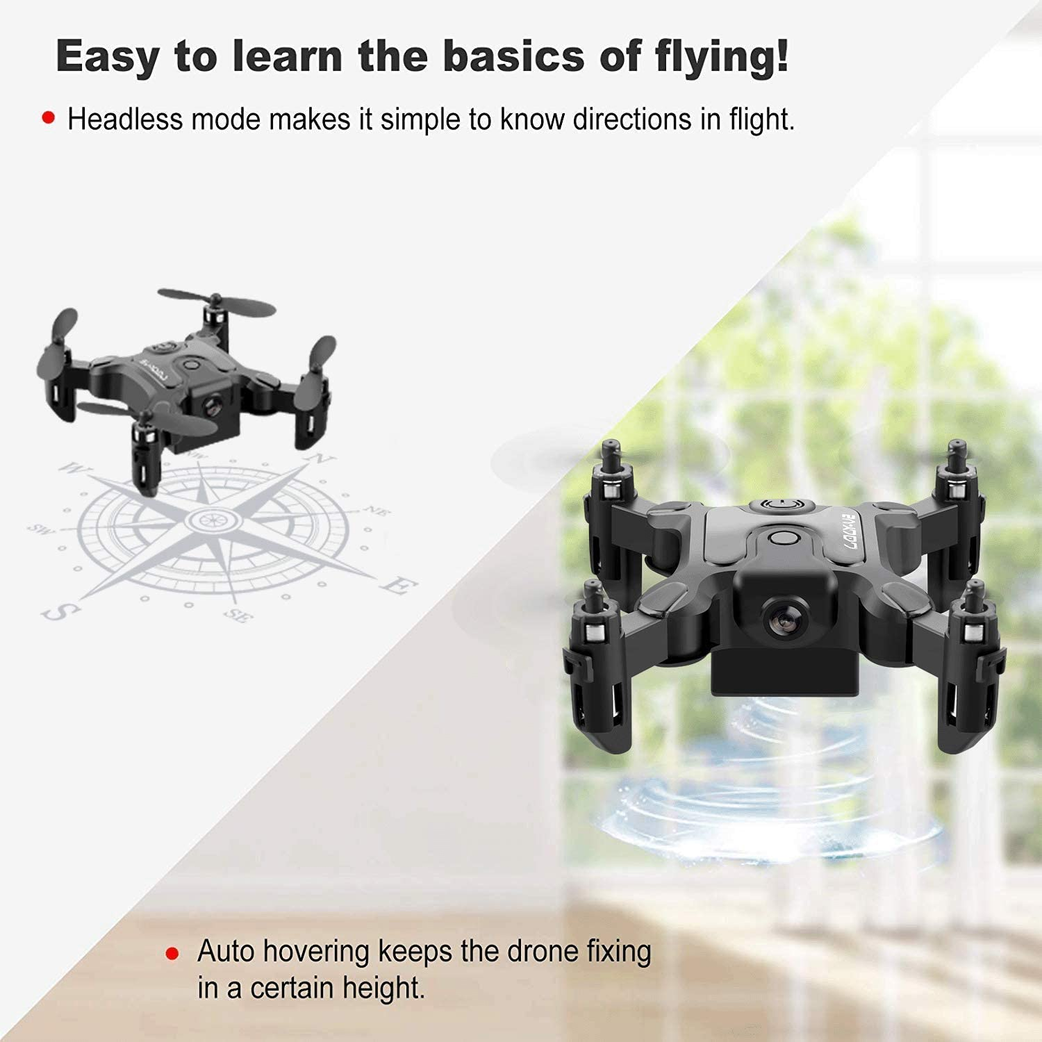 4DRC Mini Foldable Drone with Camera for Kids and Adults Beginners RC Quadcopter,App Control,3D Flips and Headless Mode,Trajectory Flight,Altitude Hold,3 Modular Battery,Gift Toy for Boys and Girls