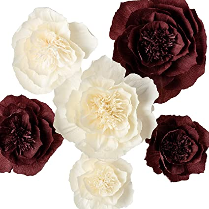 Amazon key spring paper flower decorations giant paper flowers key spring paper flower decorations giant paper flowers large crepe paper flowers beige mightylinksfo