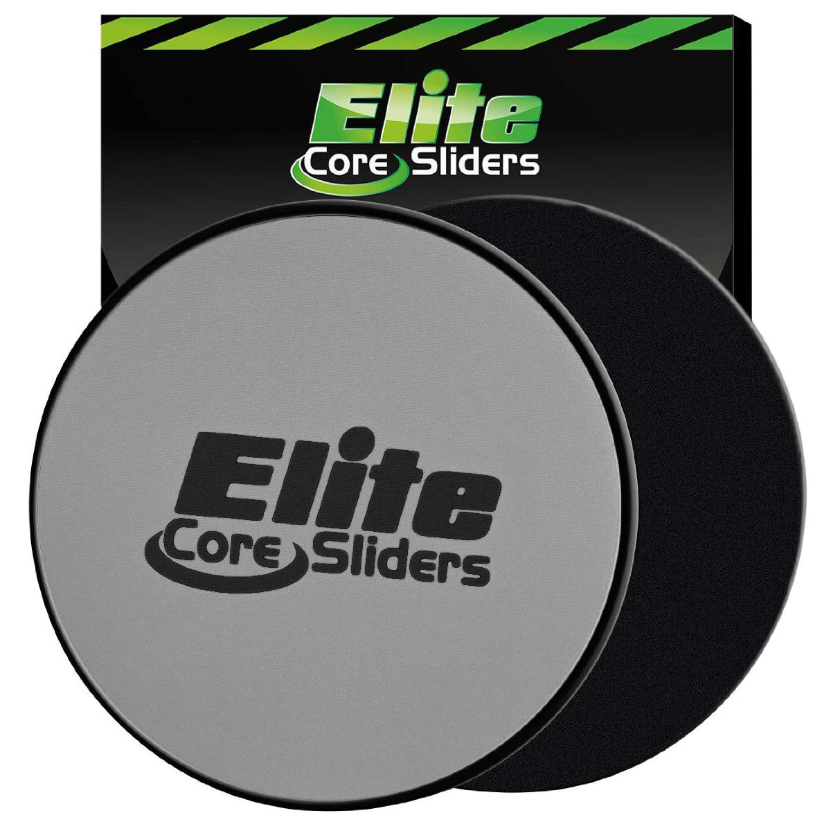 Elite Sportz Sliders for Working Out, 2 Dual Sided Gliding Discs for Exercise on Carpet & Hardwood Floors, Compact Core…