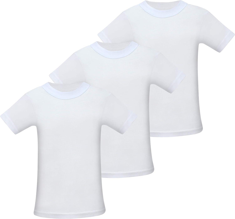 10-11 Jahre 3 Pack Kinder Unterhemd Kurzarm Shirt Jungen M/ädchen 140-146 , Weiss - 3 ST/ÜCK