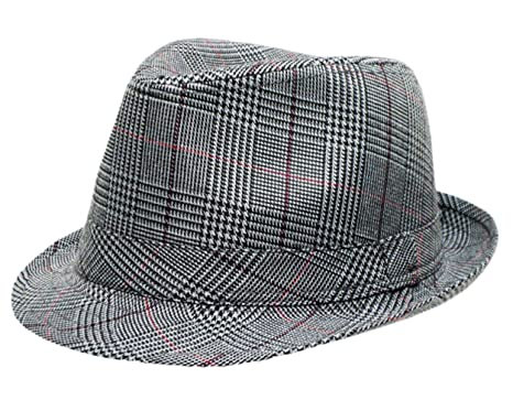 70c85d57325 Image Unavailable. Image not available for. Colour: Mens Prince Of Wales  Tweed Trilby Fedora Hat in Grey