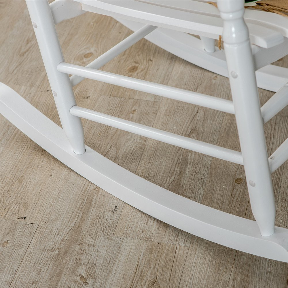B&Z KD-22W Wooden Rocking chair Porch Rocker White Outdoor Traditional Indoor by B&Z (Image #6)