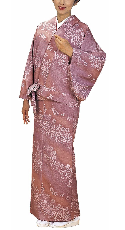 女物仕立上り二部式着物(袷オールドローズ桜) B01LRS4OW8   フリーサイズ