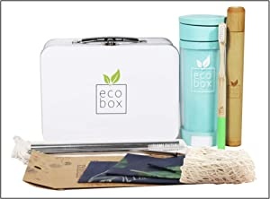 ZERO WASTE KIT - Eco Friendly Gift Set with Zero Waste Items & Eco Friendly Products, Sustainable Living Products for the Home & Kitchen, Eco Gift Box including Beeswax Wraps & Zero Waste Set