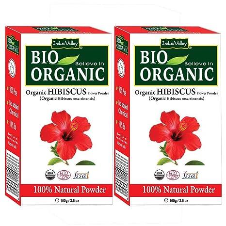 Buy Indus Valley Organic Hibiscus Powder 200 Grams Online At Low