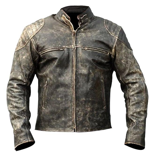 grande vendita 5e021 0721c SkySeller-uk - Giacca - Biker - Uomo: Amazon.it: Abbigliamento
