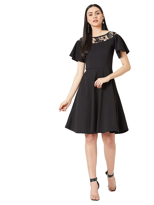 Miss Olive Crepe Skater Dress