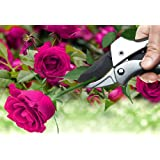 Vayne Pulley Bypass Pruning Shears Tree Pruners - Heavy Duty Power Drive Ratchet Anvil Hand Garden Shears Clippers with SK-5 Carbon Stell Blade for Flower Tree Pruning Camping Hunting Toolbox