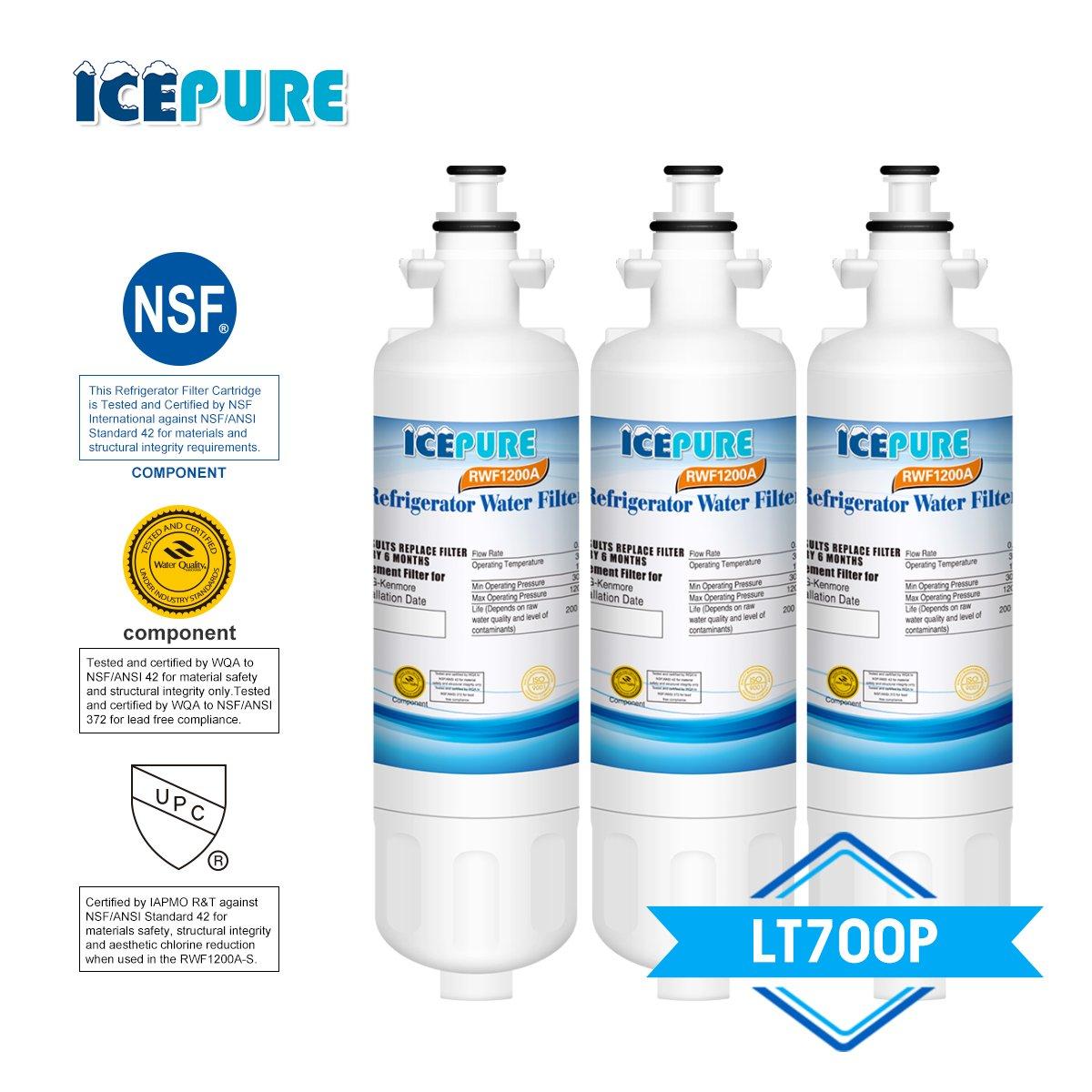 Lg, Kenmore, Lt700p, Adq36006101, Adq36006102, 46-9690, Wf700 Replacement - 3pk by IcePure B00XNMDIBU