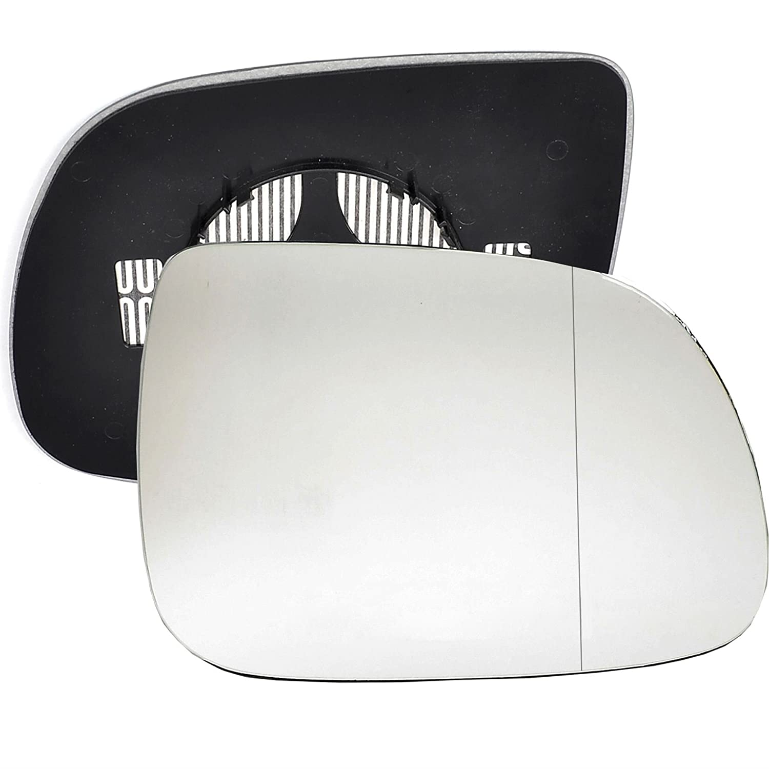 Driver right hand side Heated wing door Silver mirror glass with backing plate #C-SHY//R-NNQI07 Clip On