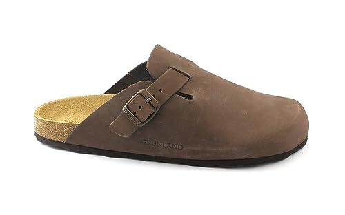 più recente 2b89f 2c7e3 Grunland ROBI CB7033 Brown Slippers Men's Foot Leather ...