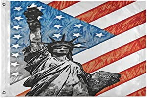 Mr.Brilliant House Flag Garden Flag with Grommets Tough Durable Outdoor Indoor Decor for Home Yard United States Statue of Liberty Flag Ancient Greece Bronze 36x60in 2060001