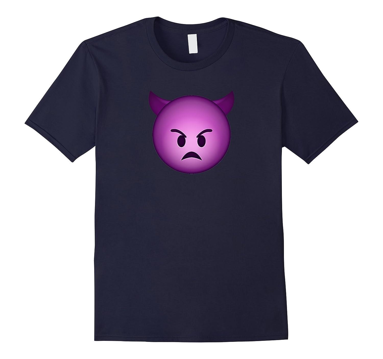 Cool Graphic Design Mad Devil Emoji Face Funny T-shirt