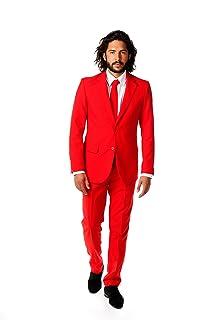 OppoSuits OSUI-0014 Red Devil, Costume da Carnevale, da Uomo, Colore Rosso (Rot), Taglia EU 52 (UK/US 42) OppoSuitsTM